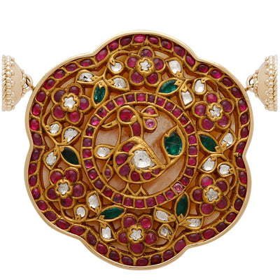 22k Kundan Ruby and Diamond Centerpiece