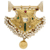 22K Kundan Centerpiece with Diamonds and Pearls