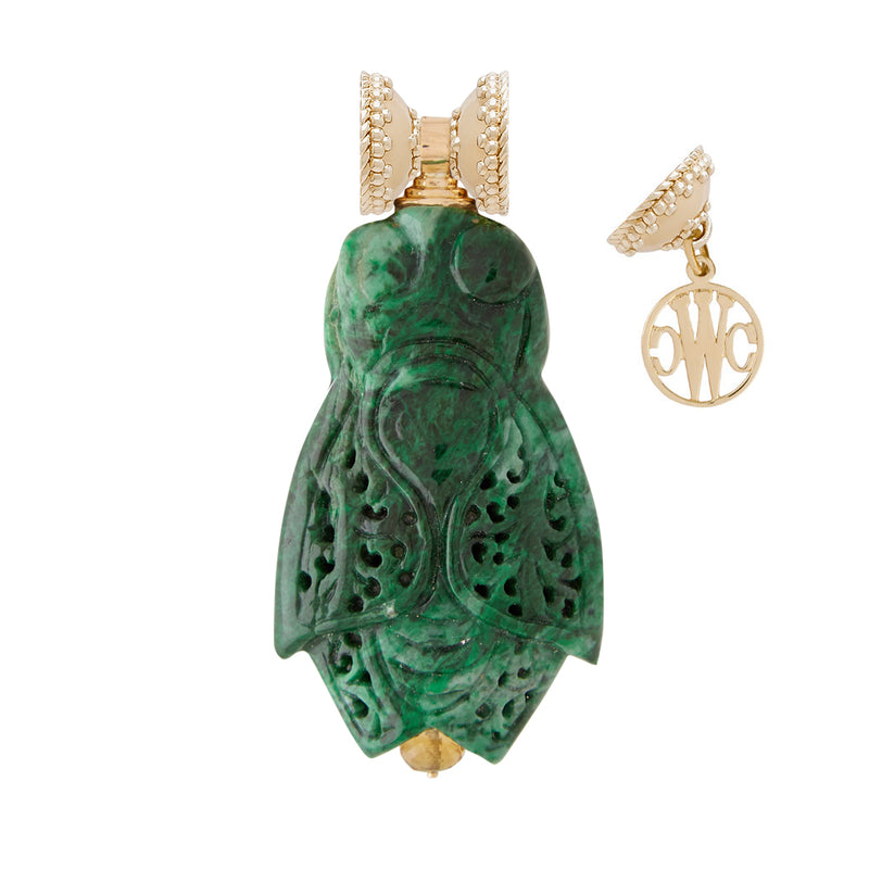 Green Jade Cicada Centerpiece