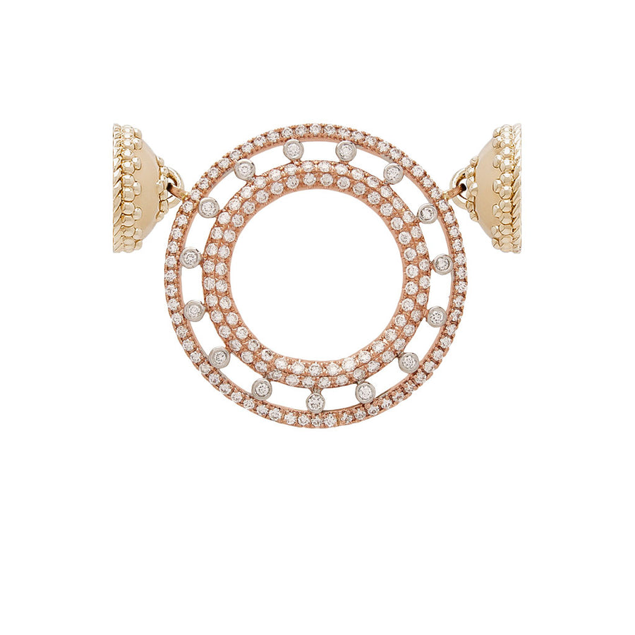 18K Rose Gold and Diamond Centerpiece
