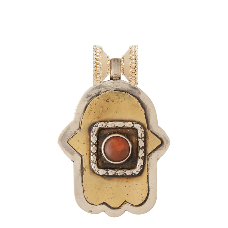 Tibetan Treasures Brass Hamsa