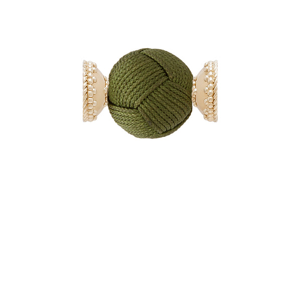 Olive Green Woven Knot Centerpiece