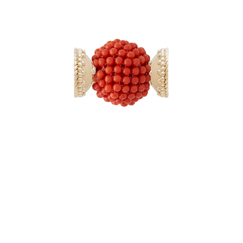 Caviar Coral Glass Bead Centerpiece