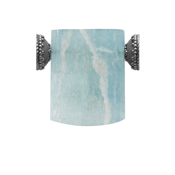 Aquamarine Gunmetal Centerpiece