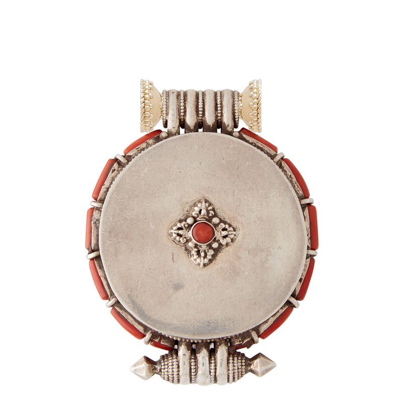 Tibetan Treasure Large Medallion Centerpiece