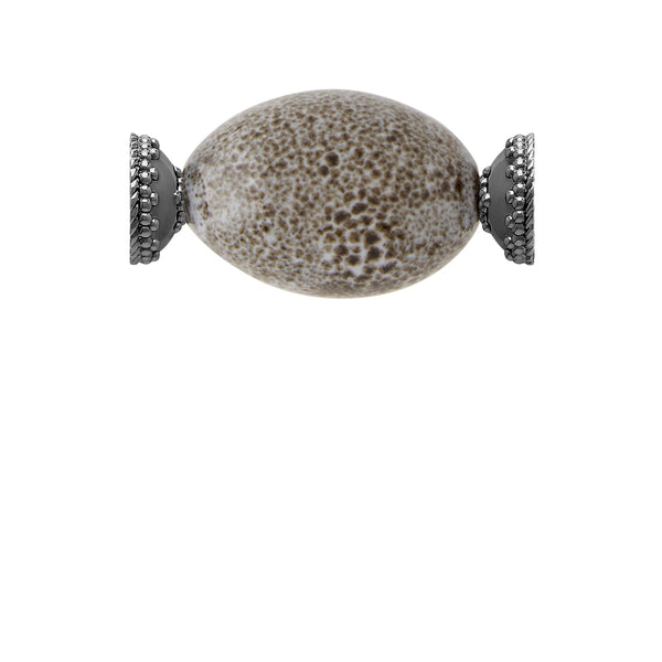 Speckled Ceramic Bead Gunmetal Centerpiece