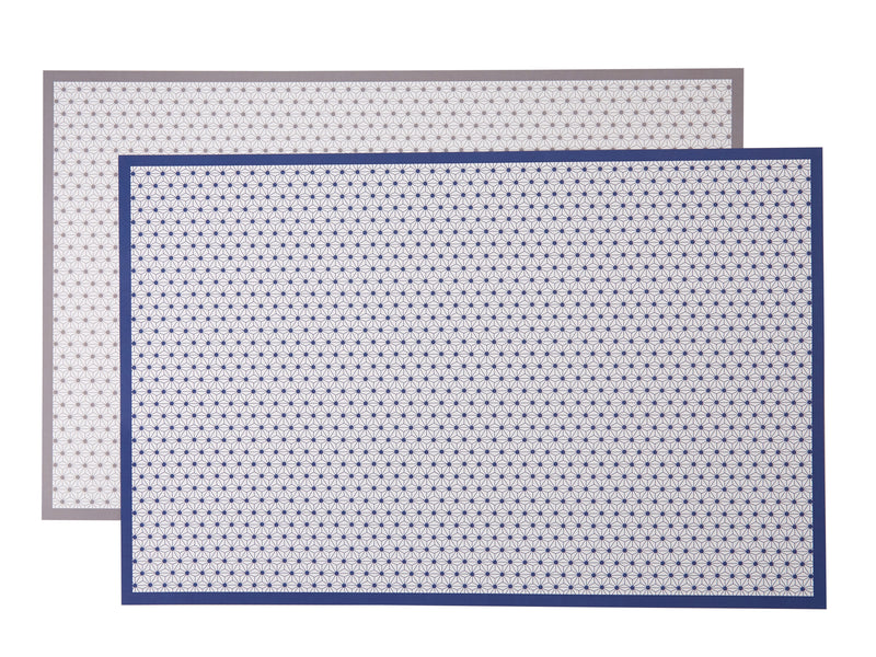 Navy Star Reversible Placemats, Set of 12