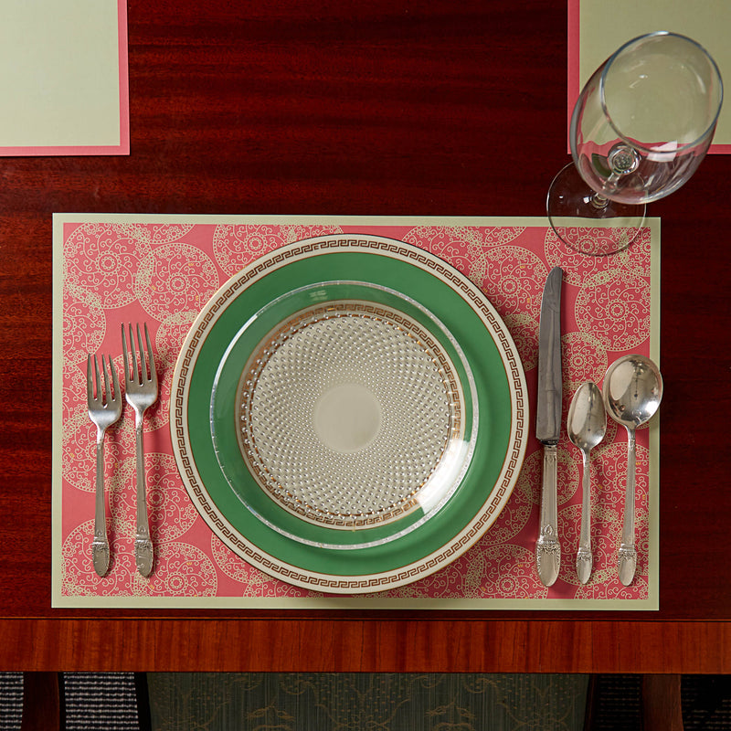 Pink Dharma Reversible Placemats, Set of 12