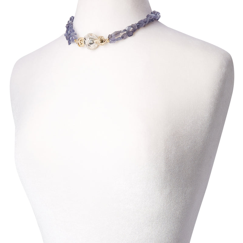 Nancy Iolite Double Strand Necklace
