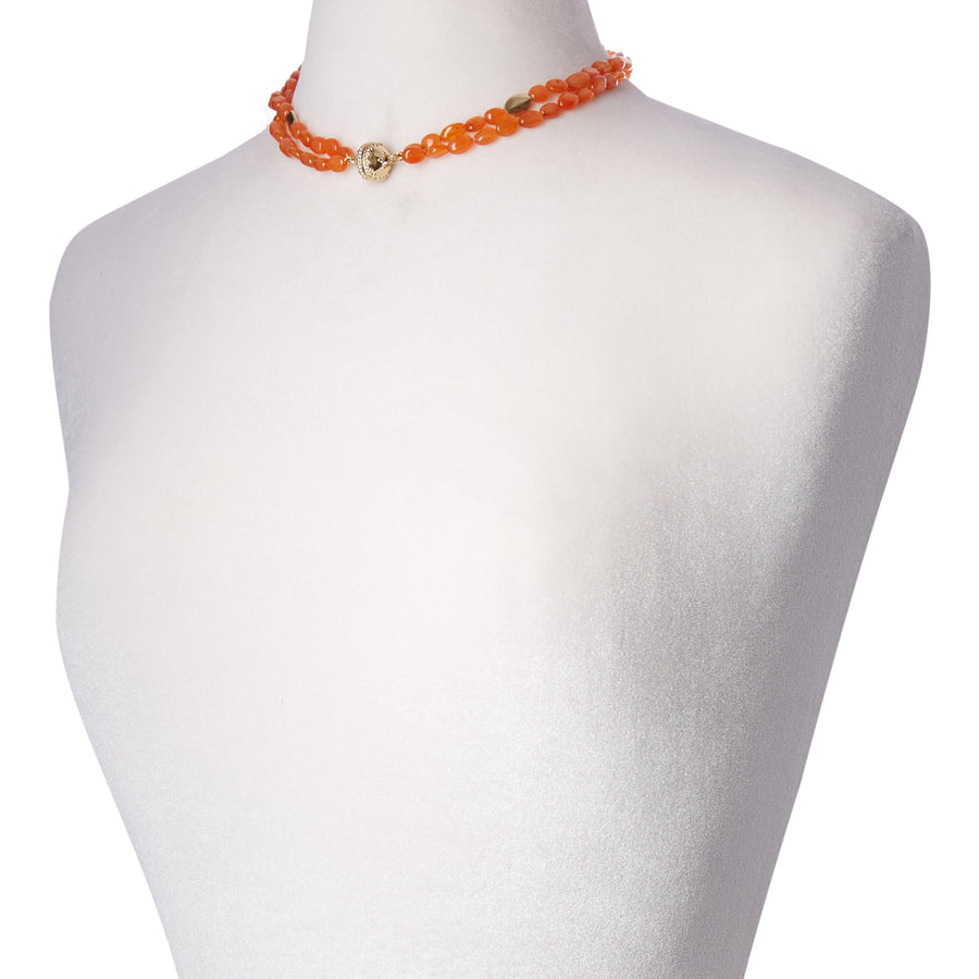 Gold Rush Carnelian Double-Strand Necklace