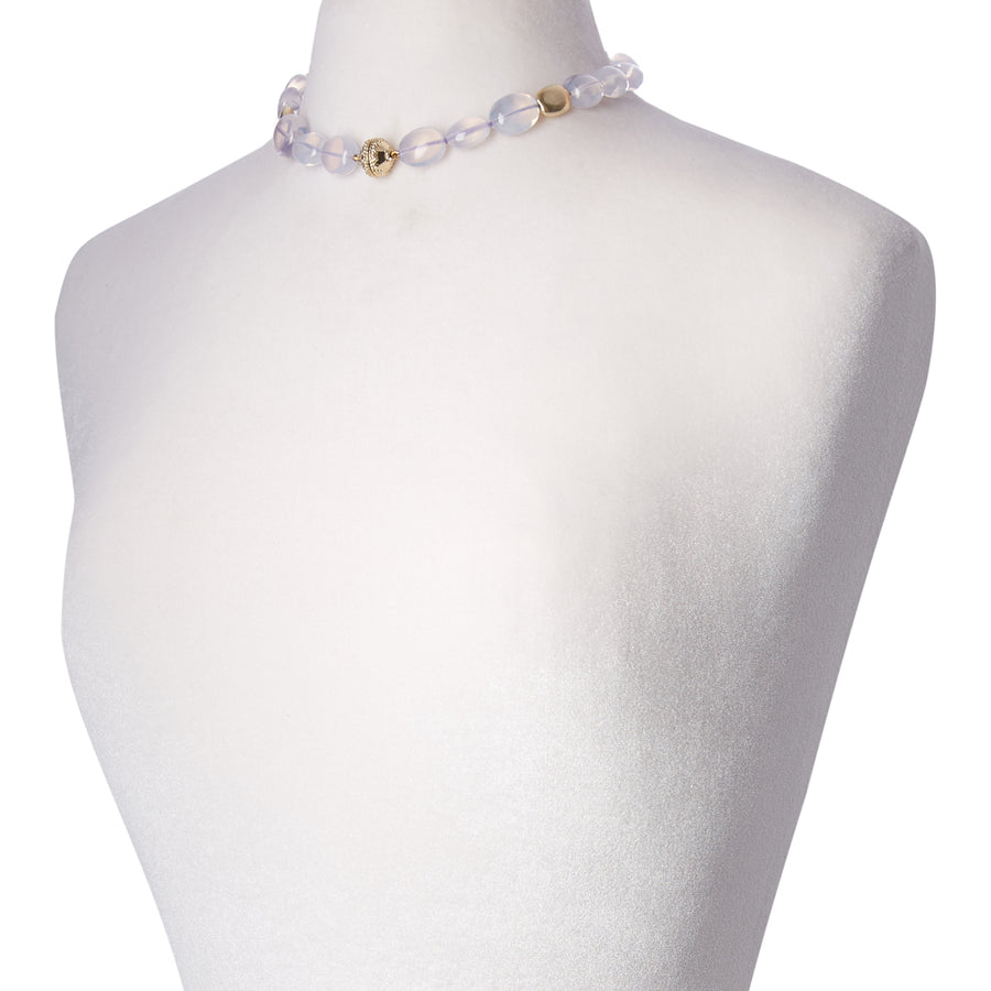 Gold Rush Lavender Quartz Necklace