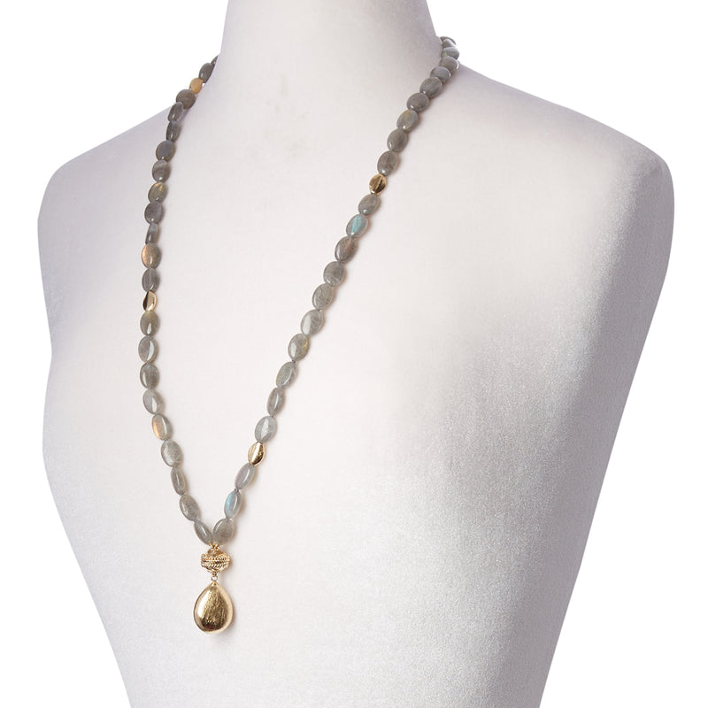 Gold Rush Labradorite Double Strand Necklace