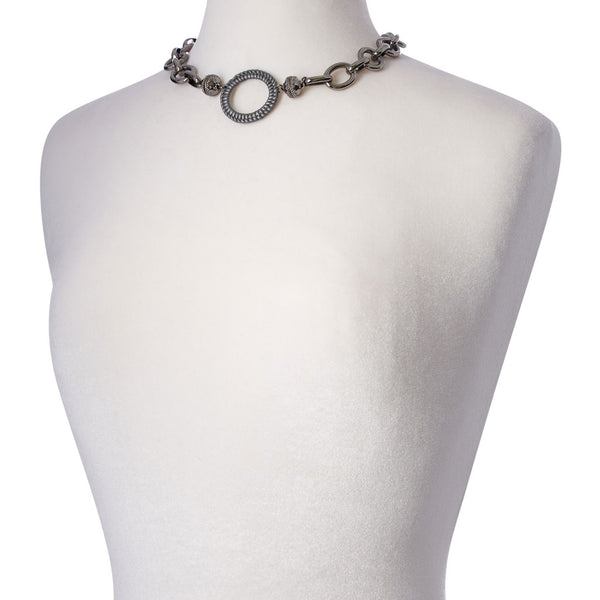 Gold Coast Gunmetal Necklace