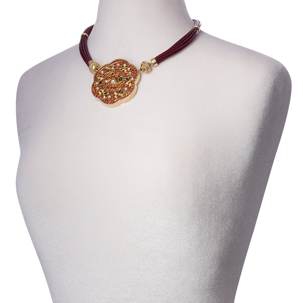 Aspen Leather Mulberry Necklace