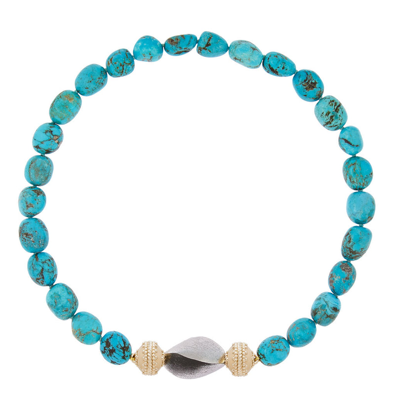 Turquoise Tumbled Necklace