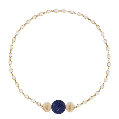 The Amalfi 18K Moonstone Single Strand Necklace