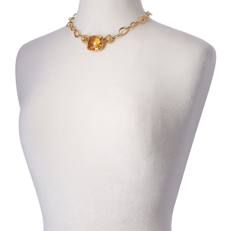 Burton 18k Yellow Gold Necklace