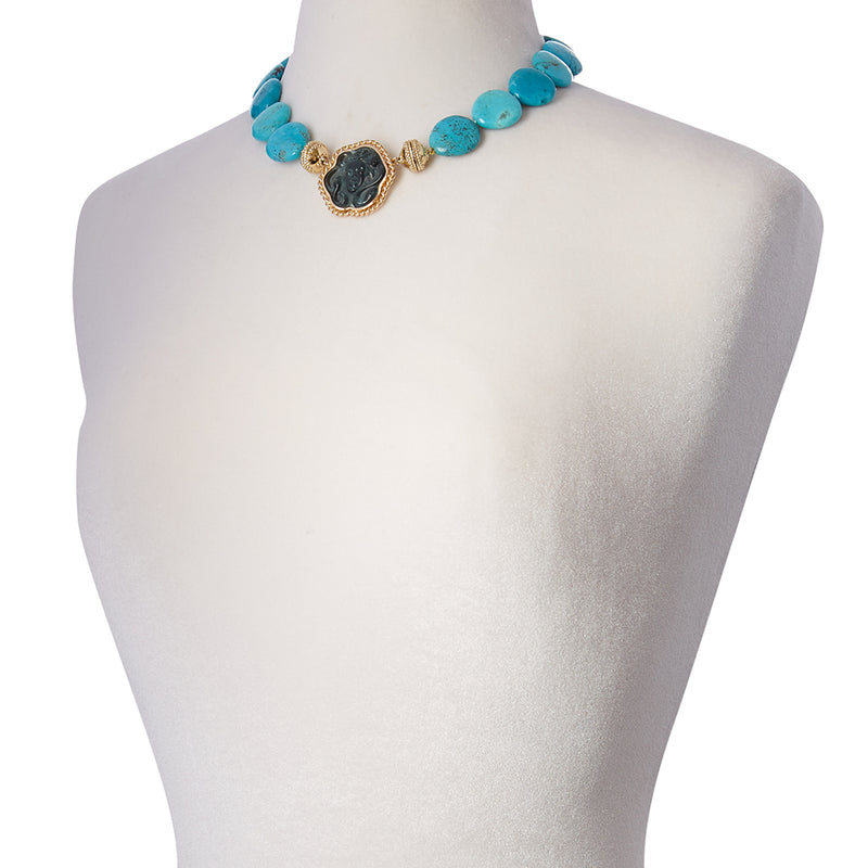Tumbled Turquoise Pebble Necklace