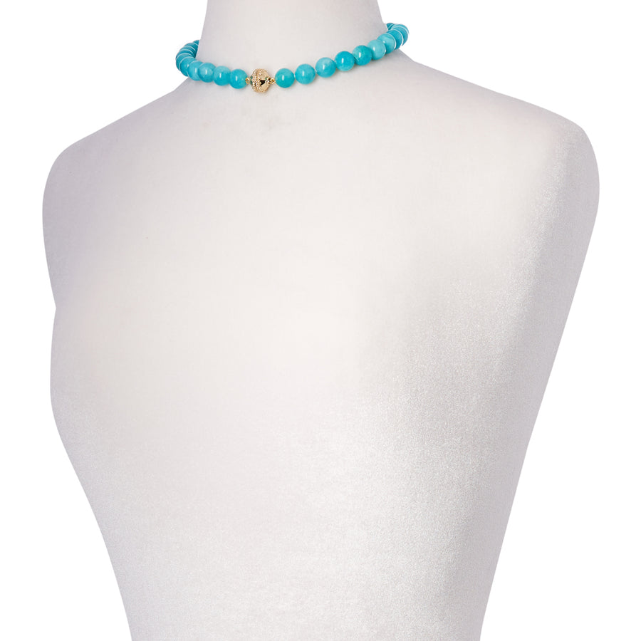 Victoire Amazonite 12mm Necklace