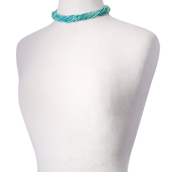 Michel Turquoise Multi Strand Necklace