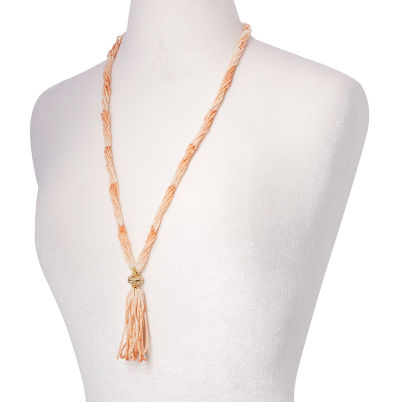 Michel Pink Opal Multi Strand Necklace