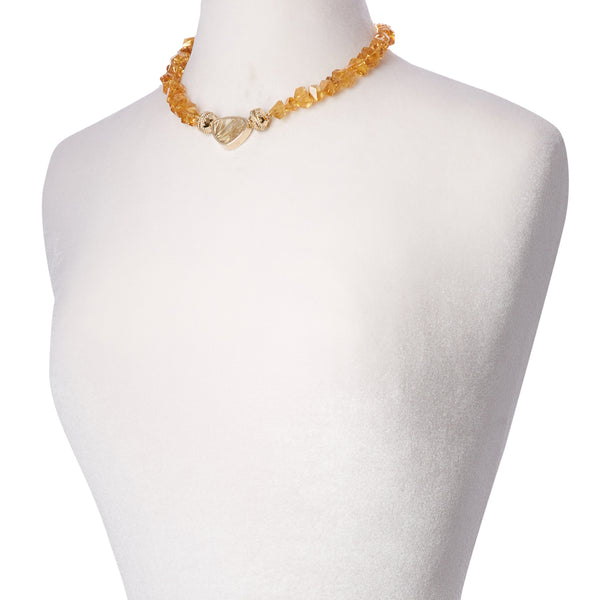 Nancy Citrine Chip Necklace