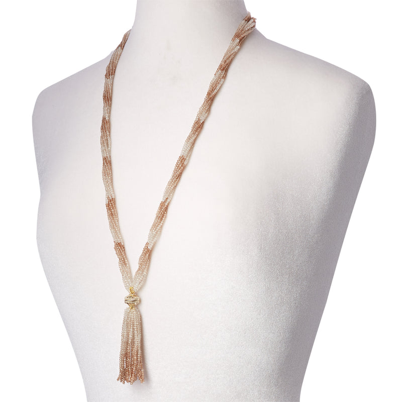 Michel Imperial Topaz Multi Strand Necklace