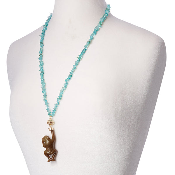 Apatite Chip Double Strand Necklace