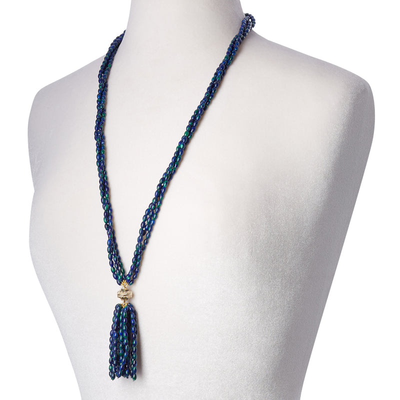 Azurite Malachite Rice Tassel