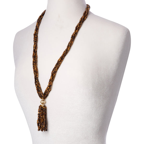 Victoire Tiger's Eye 4mm Tassel