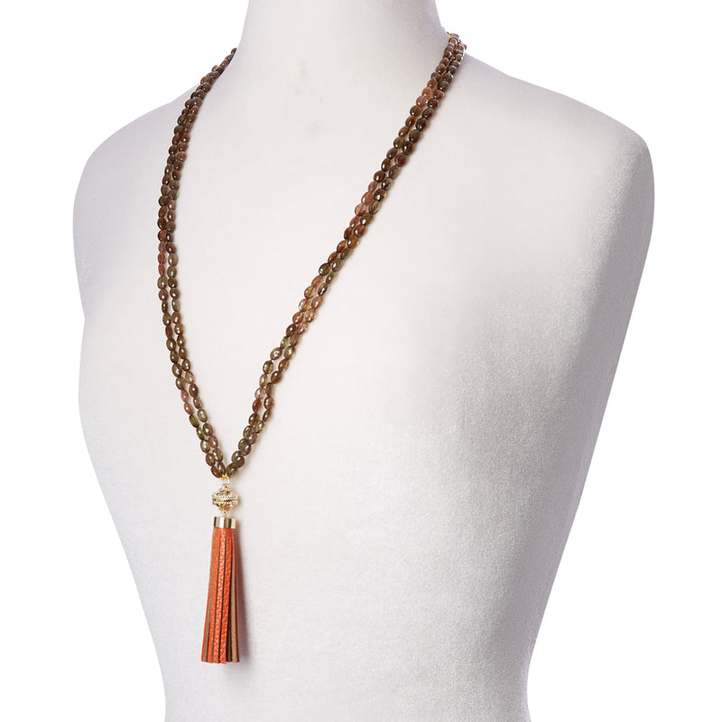 Nancy Andalusite Multi Strand Necklace