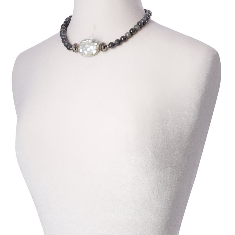 Victoire Black Jade 10mm Necklace