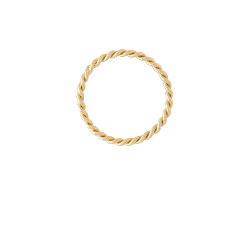 18K Gold Small Twist Ring