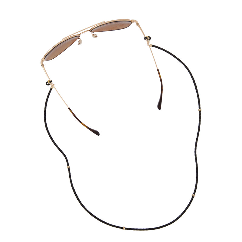 Aspen Braided Leather Eyeglass Chain