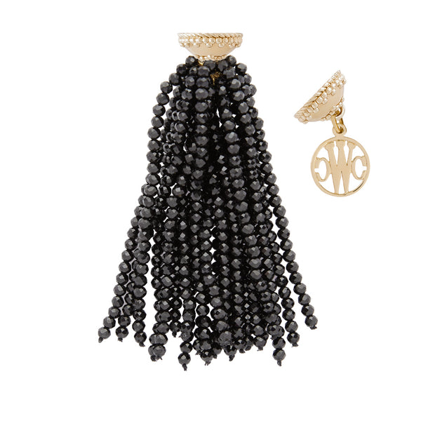 Michel Black Spinel Tassel