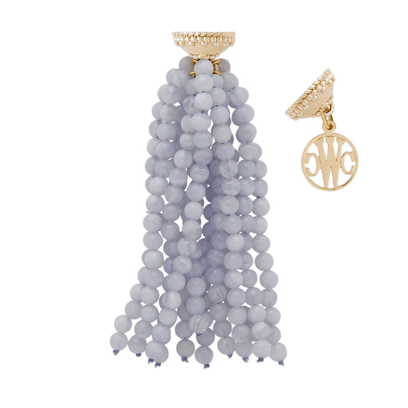 Victoire Blue Lace Agate 4mm Tassel