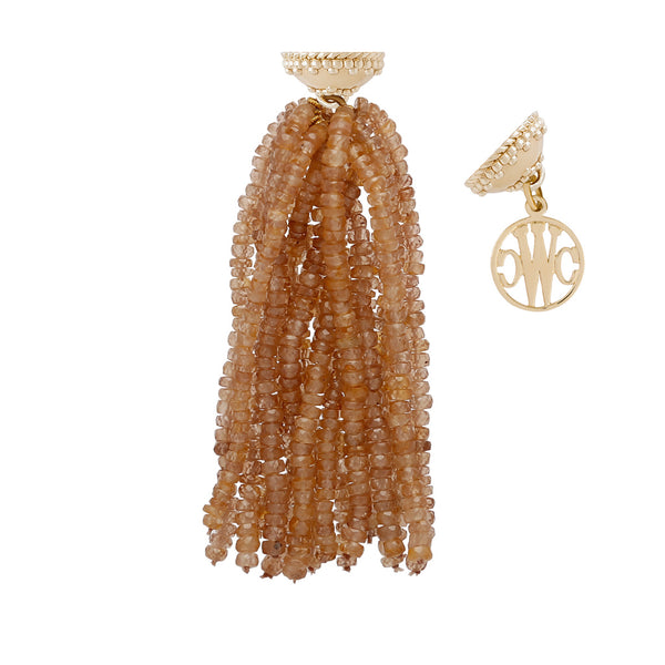 Michel Brown Zircon Tassel