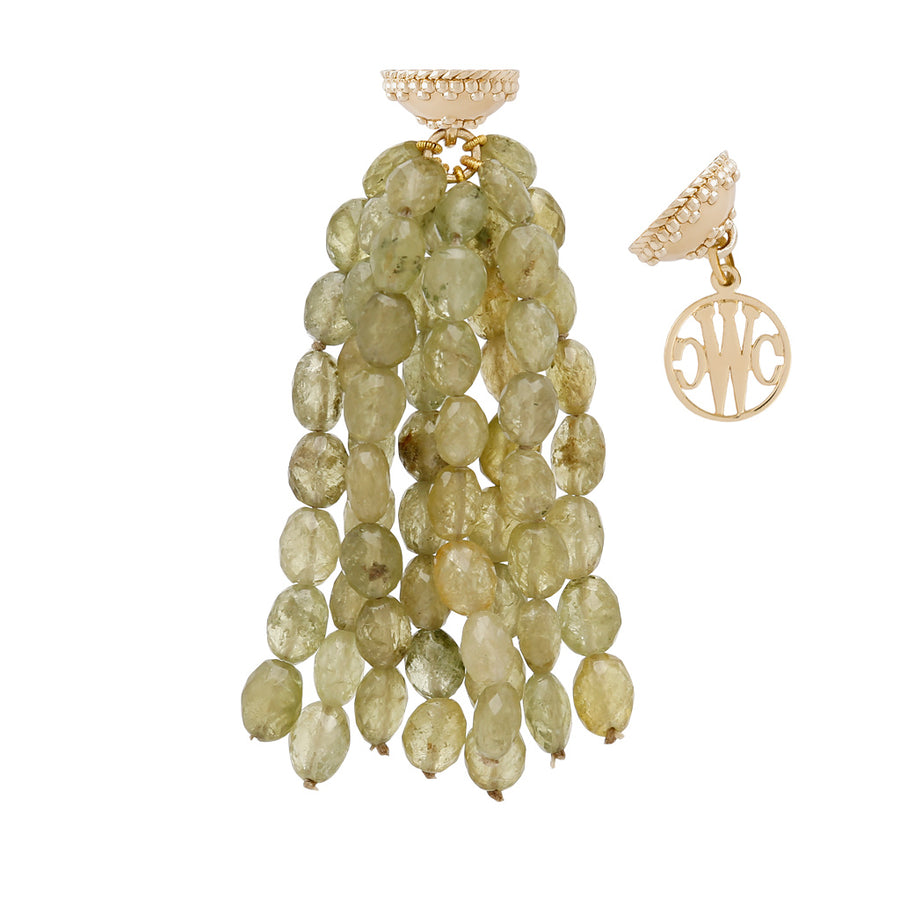 Faceted Green Garnet Tassel