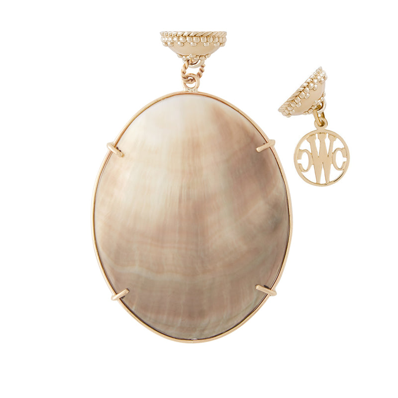 Oval Ombre Mother of Pearl Tag