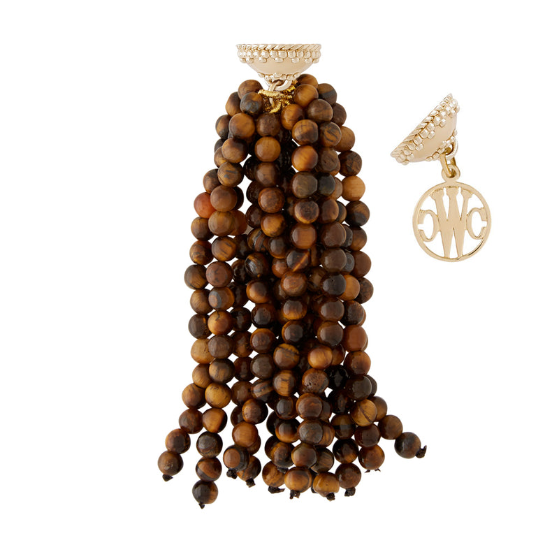 Victoire Tigers Eye 4mm Tassel