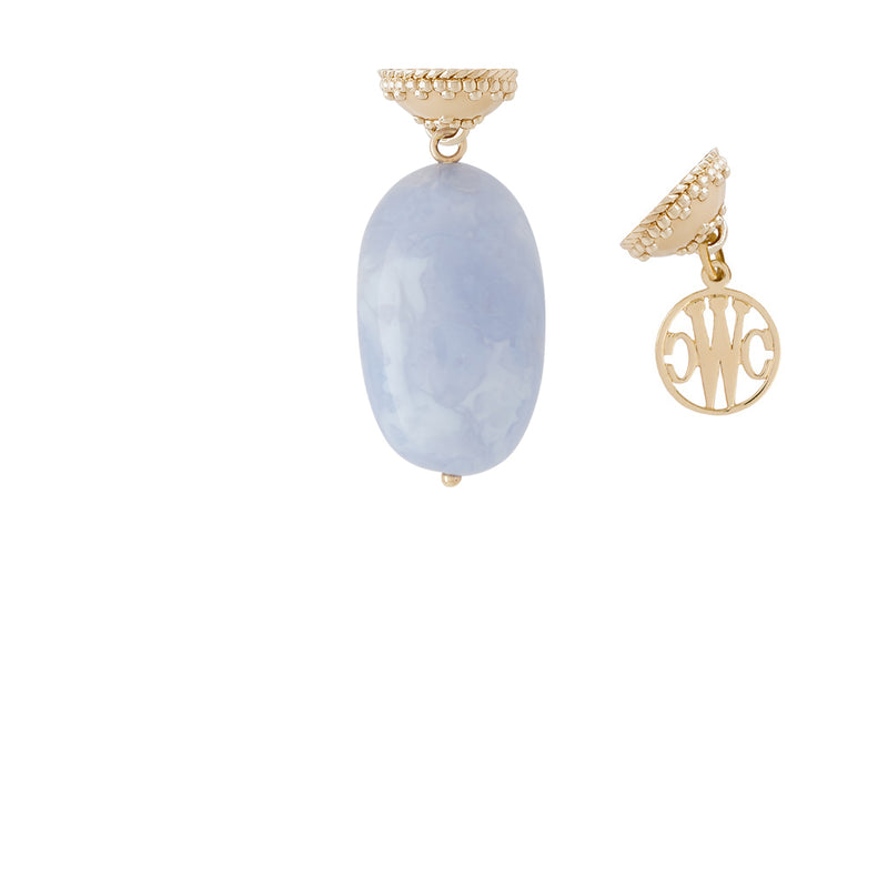 Chalcedony Tumbled Nugget Tag