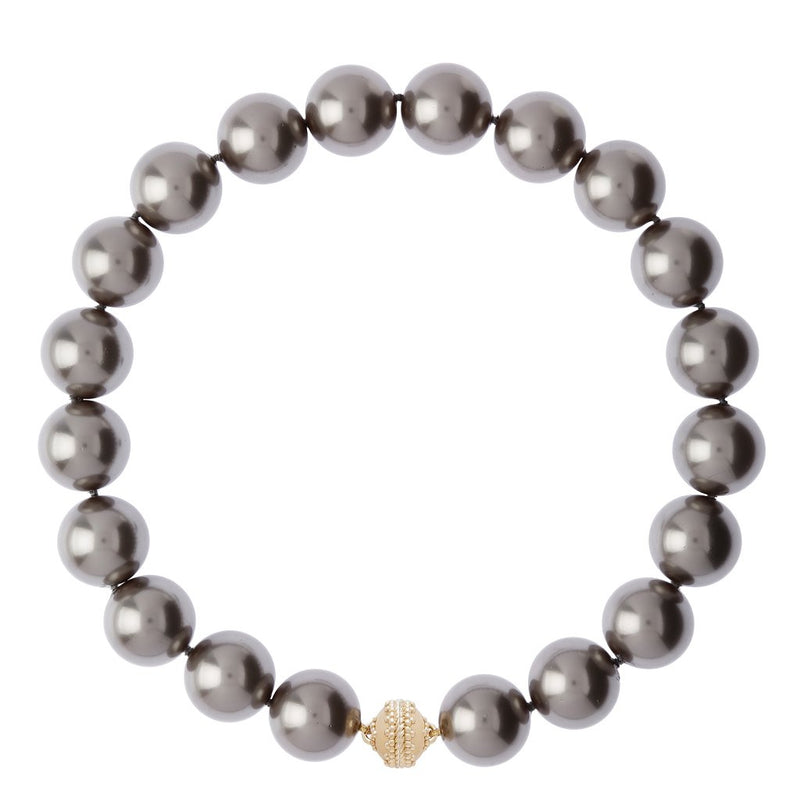 Victoire Gray Shell Pearl 20mm Necklace