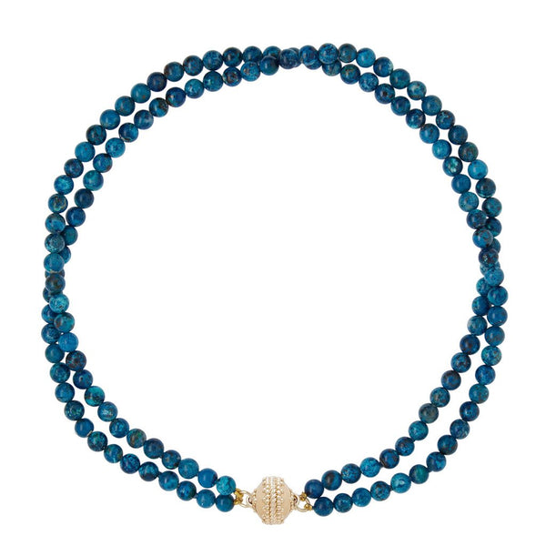 Victoire Chrysocolla 6mm Double Strand Necklace