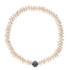 Rondelle Coin Pearl Gunmetal Necklace