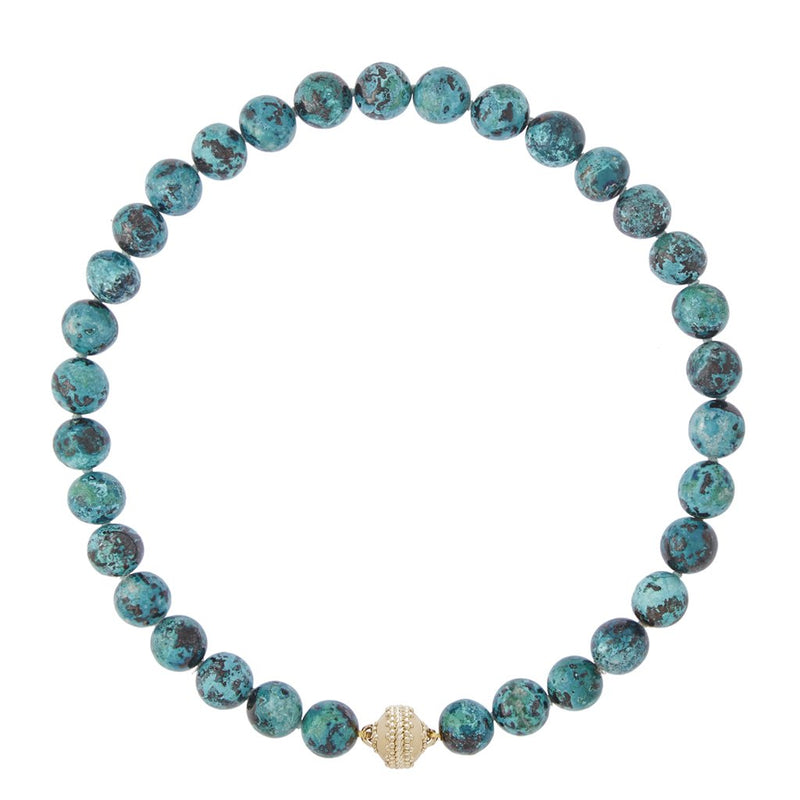 Victoire Chrysocolla 12mm Necklace