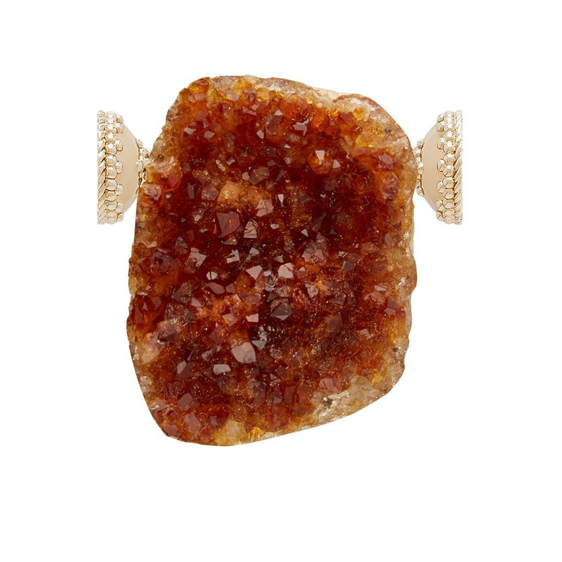 Medium Dark Citrine Druzy Centerpiece
