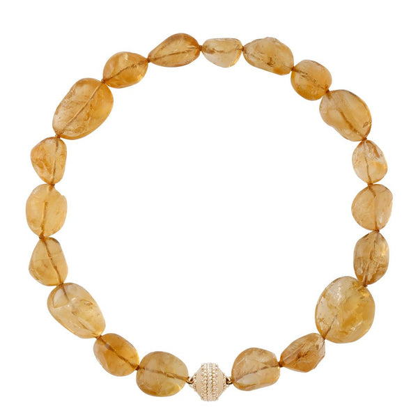 Helen Large Citrine Necklace