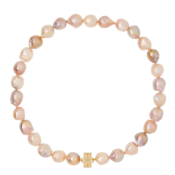 Small Pink Baroque Pearl Studio Necklace