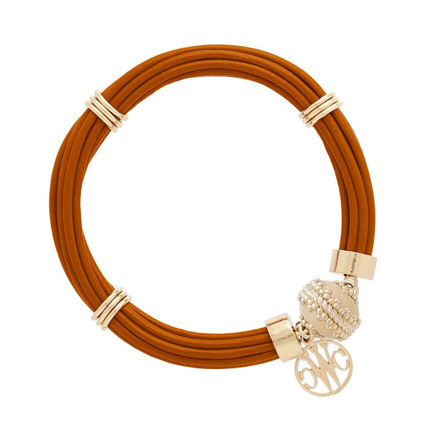 Aspen Leather Camel Bracelet