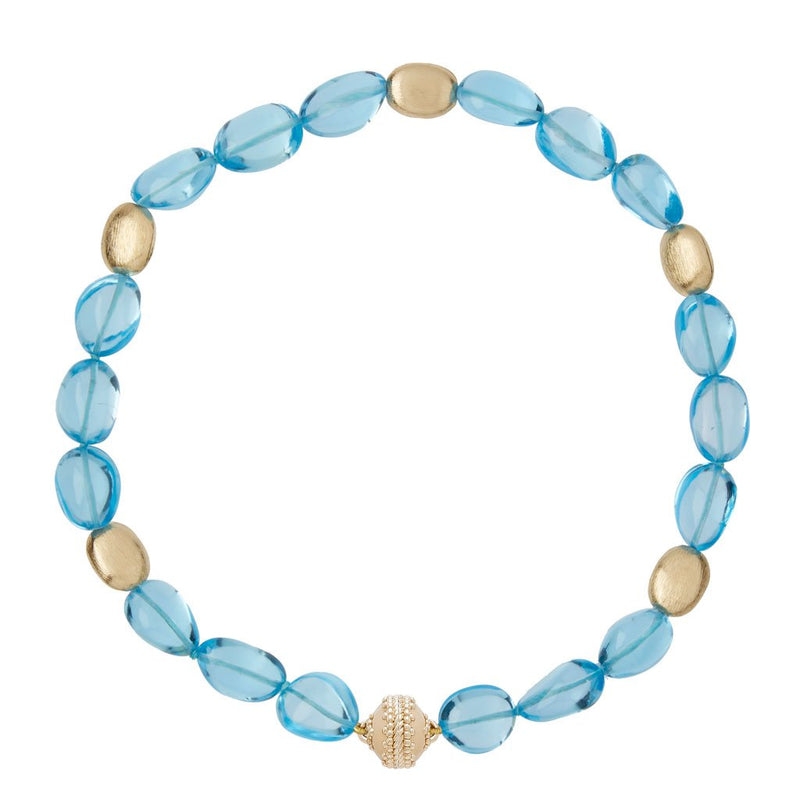 Gold Rush Blue Topaz Necklace